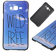 Wild And Free Pattern PC Hard Back Cover Case for Samsung Galaxy J5/J7