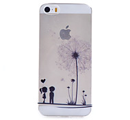Transparent Dandelion Pattern Transparent Soft TPU Material Cell Phone Case for iPhone 5/5S