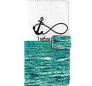 Sea  Pattern PU Leather Phone Case For Huawei P8