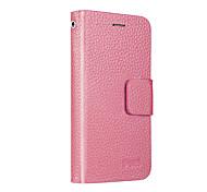 UWEI Cow Leather Wallet Full Body Case Intelligent Bracket for Iphone4/4s
