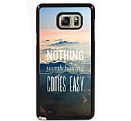 niets komt eenvoudig ontwerp slanke metalen achterkant van de behuizing voor Samsung Galaxy Note 3 / noot 4 / note 5 / note 5 rand