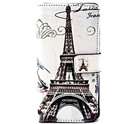 Transmission Tower Pattern PU Leather Phone Case For Sony M4