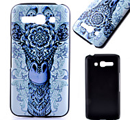 Printed Giraffe Pattern Black Matte PC Material Phone Case for Alcatel C9/C7/C5