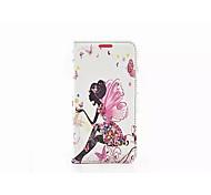 Для Кейс для  Samsung Galaxy со стендом Кейс для Чехол Кейс для Соблазнительная девушка Искусственная кожа Samsung S6 edge / S6 / S5