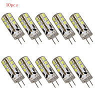 Lampes à Deux broches Décorative Blanc Chaud/Blanc Froid HRY 10 pièces A G4 3 W 24 SMD 2835 280 LM AC 100-240 V