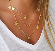 Fine Turquoise Bohemia Delicate Layering Necklaces,Layering Necklaces,Bar Necklace,Gold Necklace Clavicle Necklace
