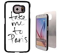 leve-me para panelas de alumínio design de caso de alta qualidade para Samsung Galaxy S6 sm-g920f