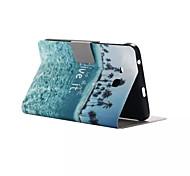 rutschfeste Gewinde farbige Zeichnung pu Tablet-Computer Schutzhülle für Samsung-Registerkarte ein T550 9.7 / T111 / T350
