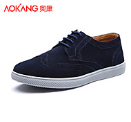 Aokang Men's Shoes Outdoor/Athletic/Casual Leather Fashion Sneakers Black/Blue/Yellow/Green/Gray