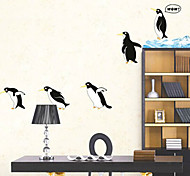 multifunción pvc bricolaje forma pingüino pegatinas decorativas