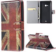 uk bandiera pu wallet caso tutto il corpo con il basamento per lumia 540 microsoft