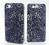 Tribal Flower Pattern TPU Soft Full Body Cover Case for iPhone 4/4S