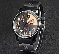 V6® Men's Fashion Dial Rubber Strap Quartz Casual Watch Cool Watch Unique Watch