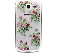Rosa Blumen Rosen-Muster-TPU Acryl weiche Tasche für Samsung-Galaxie S3 / S4-Galaxie / galaxy s5 / galaxy S6 / S6 Galaxie Rand