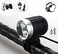 6000lm 3x CREE T6 LED Front Bicycle Light Bike Lamp Headlamp +Headband +Battery