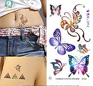 OEM - Tatuajes Adhesivos - Non Toxic/Modelo/Parte Lumbar/Waterproof - Series de Tótem - Hombre/Adulto/Boy/Juventud - Negro - PVC - 10 -