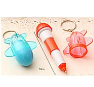 4pcs niedlichen Flugzeug Stift Teleskopebene Kugelschreiber Sachen (gelegentliche Farbe)
