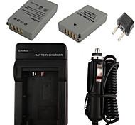 x2 el24 batería de la cámara 850mAh + enchufe eu + cargador de coche para Nikon 1 j5
