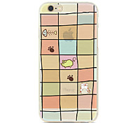 Pig Cat Fish Square Pattern TPU Soft Case for iPhone 6