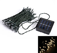 10M 50-LED 8-Mode Warm White Indoor Outdoor Wedding Christmas Party Solar String Light (EU Plug)