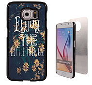 Flower Design Aluminum High Quality Case for Samsung Galaxy S6 Edge G925F
