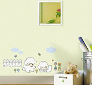 Multifunction DIY PVC Sheep Pattern Decorative Stickers