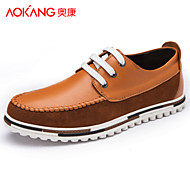 Aokang Men's Shoes Outdoor/Athletic/Casual Suede Fashion Sneakers Blue/Brown/Green