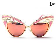 Sunglasses Women's Modern / Fashion Cat-eye Black / White / Red / Blue Sunglasses Full-Rim