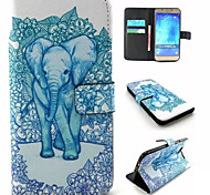 Elephant Pattern PU Leather Phone Case For Samsung Galaxy A8