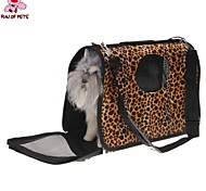 Cat Dog Carrier & Travel Backpack Pet Baskets Portable Breathable Brown Fabric