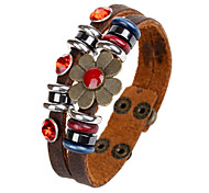 Korean Style Genuine Leather Factory Direct Sales Bracelet For Women's(Brown)(1Pc)