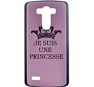 For LG Case Pattern Case Back Cover Case Word / Phrase Hard PC LG