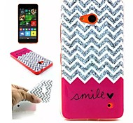 Waves  Pattern TPU + IMD Phone Case For Nokia N640