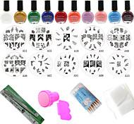 New 24Pcs/Set Polish Print Nail Image Plate Stamper Scraper Set DIY Manicure Tools