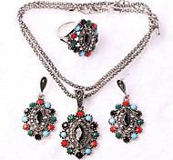 Z&X® Western Style Fashion Vintage Alloy Jewelry Set Party/Casual 1set