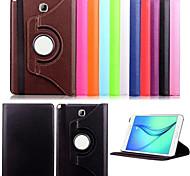 ji de 360 degrés tourné en cuir PU smart couverture du livre de titulaire stand pour Samsung Galaxy Tab a / onglet 9.7 T550 une t350 8,0