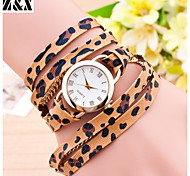 relógio de forma simplicidade de quartzo analógico couro pulso sexy leopardo vento feminino (cores sortidas)