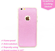 Fashion Glitter Shining Pink Anti-radiation Graphene Cooling Phone Back Stickers Case Cover for Apple Iphone6 4.7