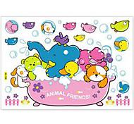 multifunções pvc diy animal banho adesivos decorativos