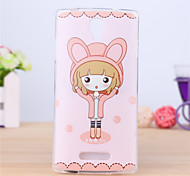 The Beautiful Girl Pattern TPU Soft Case for Oppo R831S