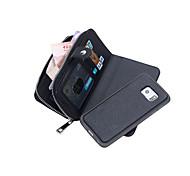 Für Samsung Galaxy Note Geldbeutel Hülle Handyhülle für das ganze Handy Hülle Einheitliche Farbe PU - Leder Samsung Note 5 Edge / Note 5