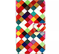 Colorful Grid Pattern PU Leather Phone Case For Huawei P8