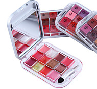 12 Color Lipstick Lip Gloss Makeup Palette(4 Selectable Colors)