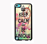 Keep Calm and Be Unique Design Aluminum High Quality Case for iPod Touch 5
