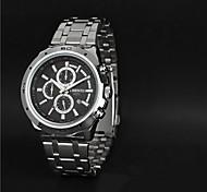 Aidu alta calidad de cuarzo correa de acero reloj resistente al agua nueva del hombre