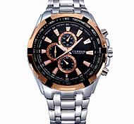 relojes de los hombres curren los hombres de la marca de lujo de la muñeca militar relojes de los hombres de acero completo reloj