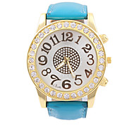 Women's With Drilling Big Dial Watches