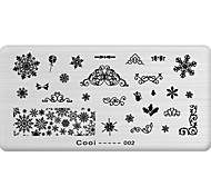 DIY Nail Art Stamp Stamping Image Template Plate/Nail Stencils Snowflake Pattern
