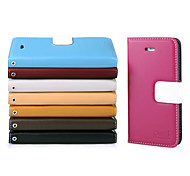 UWEI Cow Leather Wallet Full Body Case With Stand for Iphone5/5s