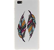 Tribal Feathers Pattern Soft TPU IMD Back Case Cover for Huawei P8 Lite/P8 Mini